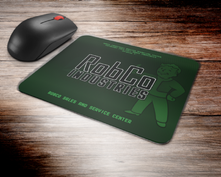 Fallout Inspired Robco Industries PC Computer Mouse Mat